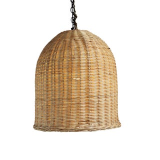 Bell Raw Wicker Lantern Small