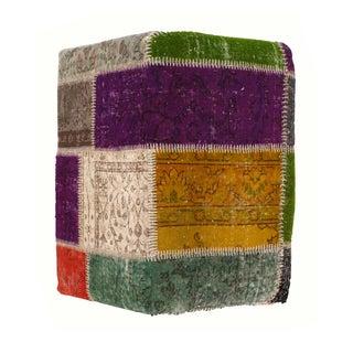 Patchwork Lamb's Wool Ottoman