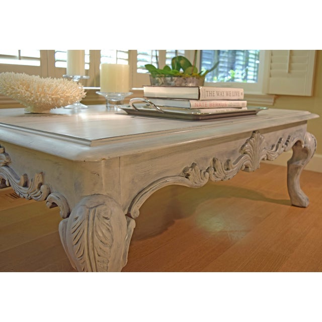 Hand Painted Paris Gray Coffee Table - Image 7 of 10