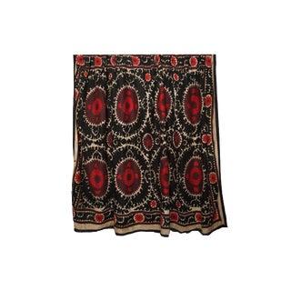 Vintage Red & Black Suzani Textile