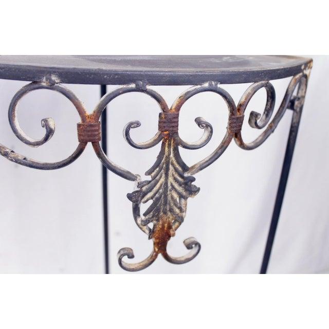 Vintage Metal Side Tables - Set of 2 - Image 2 of 3