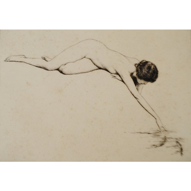Image of Early Warren B. Davis Pencil Signed Etching