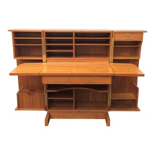 Teak Magic Box Hideaway Desk & Organizer