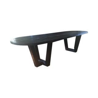 Black Cerused Oak Style Dining Table