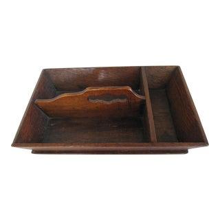 Vintage Wood Silverware Caddy
