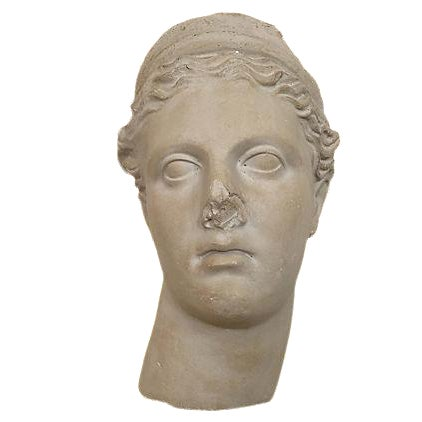 Apollo Plaster Bust Wall Hanging - Image 1 of 2