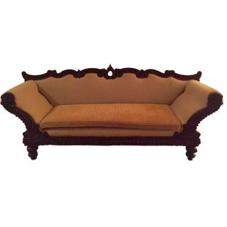 Upholstered Rosewood Settee Sofa