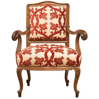 19th Century Carved Walnut Chippendale Style Armchair