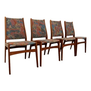 Mid-Century Danish Modern Teak Dining Chairs - Set of 4