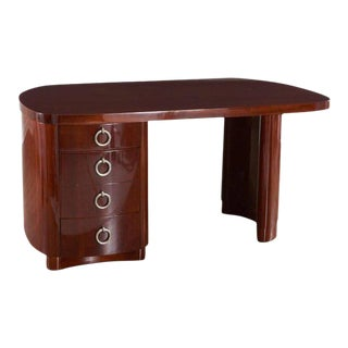 French Modern Mahogany Desk