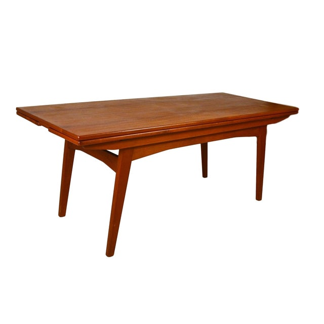 Scandinavian Teak Coffee Table: Danish Teak Convertible Dining / Coffee Table