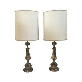 Brass Regency Lamps - Pair