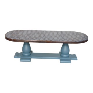 Solid Wood Trestle Coffee Table