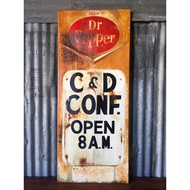 Vintage Dr Pepper Sign 121