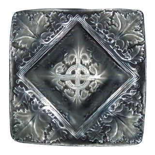 Lalique Frosted Gothic Square Dish
