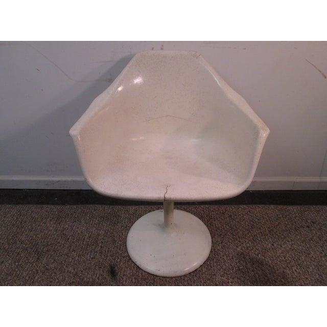 Mid Century Modern Eero Saarinen Tulip Base Chair - Image 2 of 11