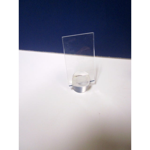Lucite Card Easel Display Holders - Set of 6 - Image 5 of 7
