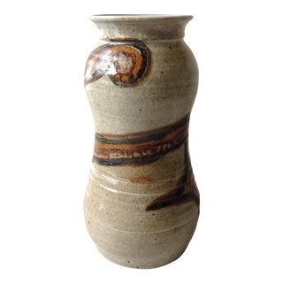 Studio Pottery Neutral Tone Glazed Vase