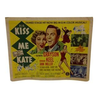 "Vintage ""Kiss Me Kate"" 1953 Movie Poster"