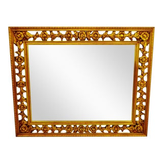 Gold Gilt Pierced Wall Mirror
