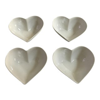 Athezza Home Porcelain Heart-Shaped Bowls - Set of 4