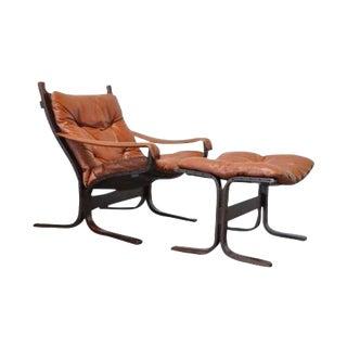 Mid-Century Westnofa Lounge Chair & Ottoman