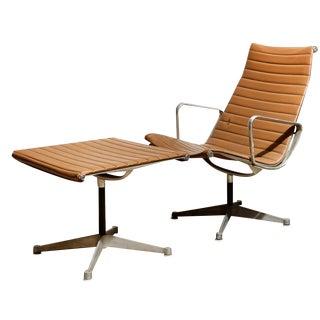 Herman Miller Aluminum Group Chair & Ottoman