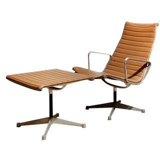 Herman Miller Aluminum Group Chair & Ottoman