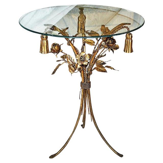 Image of Gilt Italian Metal Side Table