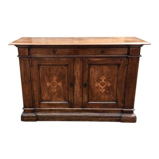 Antique Italian Inlaid Sideboard Buffet