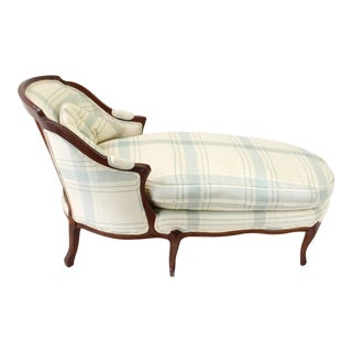 Vintage French Country Chaise Lounge