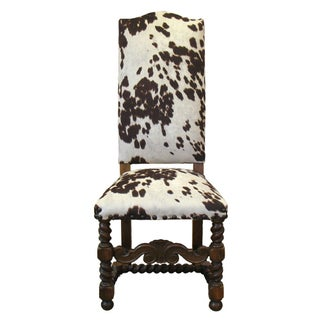 Faux Cowhide Chair