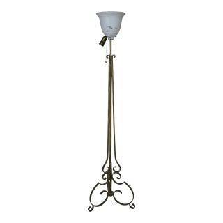 Wrought Iron Vintage French Floor Lamp