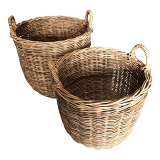 Wicker Nesting Baskets - A Pair
