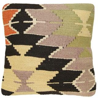 Rug & Relic Vintage Geometric Kilim Pillow
