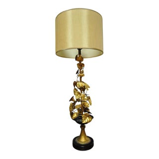 Gilt Floral Table Lamp