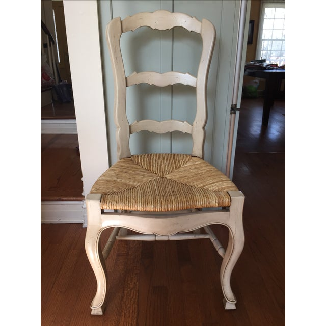 Set Of 4 Country Cream Dining Chairs: Cream Colored Ladder Back Dining Chairs - Set Of 4