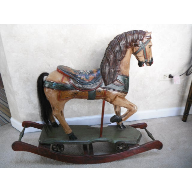 Vintage Display Hand Painted Rocking Horse - Image 10 of 10