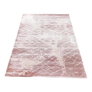 Contemporary Faded Pink Rug - 5′ × 8′