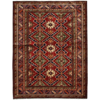"""New Traditional Hand Knotted Area Rug - 5' x 6'4"""""""
