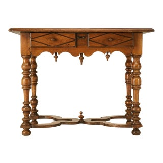 18th C. Antique French Fruitwood Writing Table with Drawer
