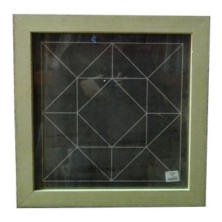 Black & Green Geometric Framed Wall Art