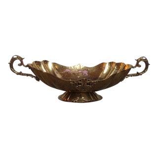 Vintage Brass Urn Centerpiece