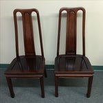 Image of Mid-Century Asian Flair Dining Chairs - Set of 4