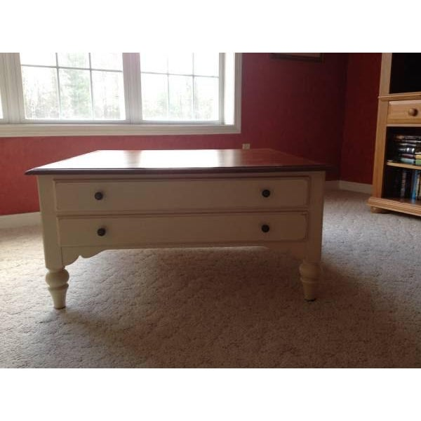 All Ethan Allen Coffee Tables: Ethan Allen Country Crossings Maple Coffee Table