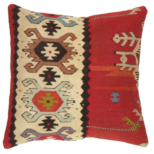 Pasargad Decorative Vintage Wool Kilim Pillow - Image 1 of 3