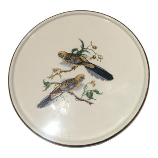 Gien France Vintage Footed Bird Holiday Tray