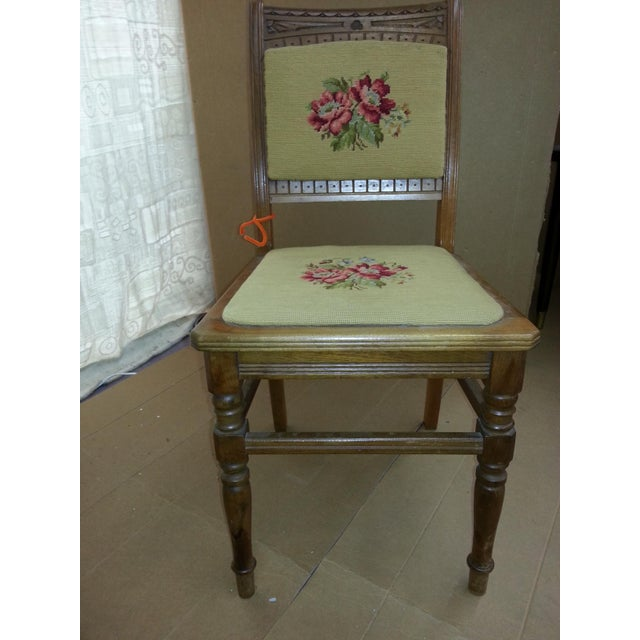 Needlepoint Prairie Dining Chairs - Set of 3 - Image 3 of 8