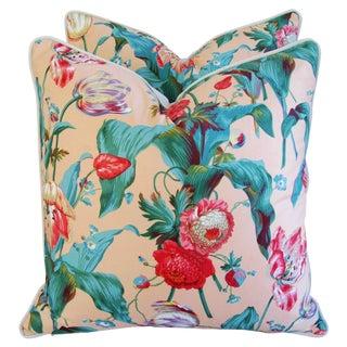 Designer Brunschwig & Fils Tulip Pillows - Pair