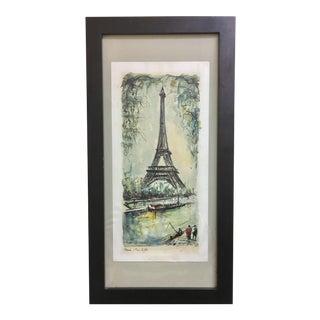 Framed Mid-Century Décolleté Eiffel Tower Print